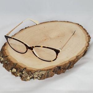 New Betsey Johnson Hero Tortoise Beige Eyeglasses